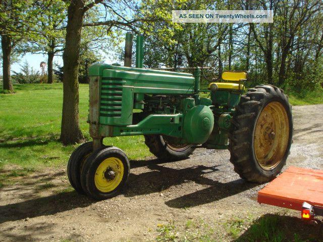 Antique Tractors Equipment : Antique john deere tractor
