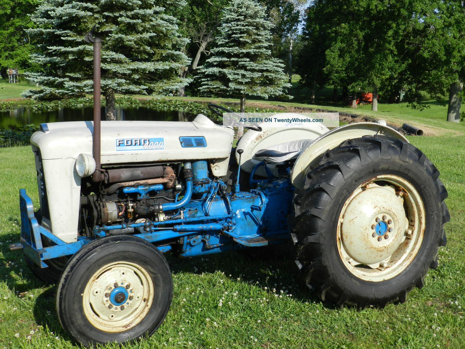 Ford 4000 Tractor Steering Wheel : Ford tractor gas power steering