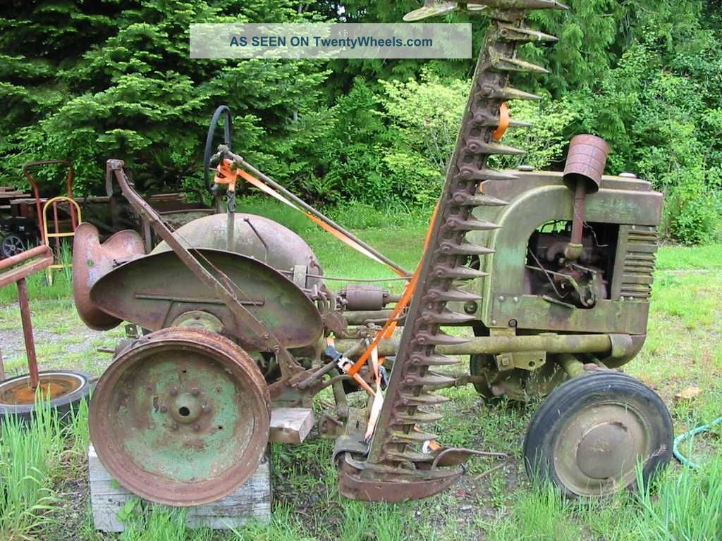 1939 John Deere L Tractor With Sickle Mower Antique