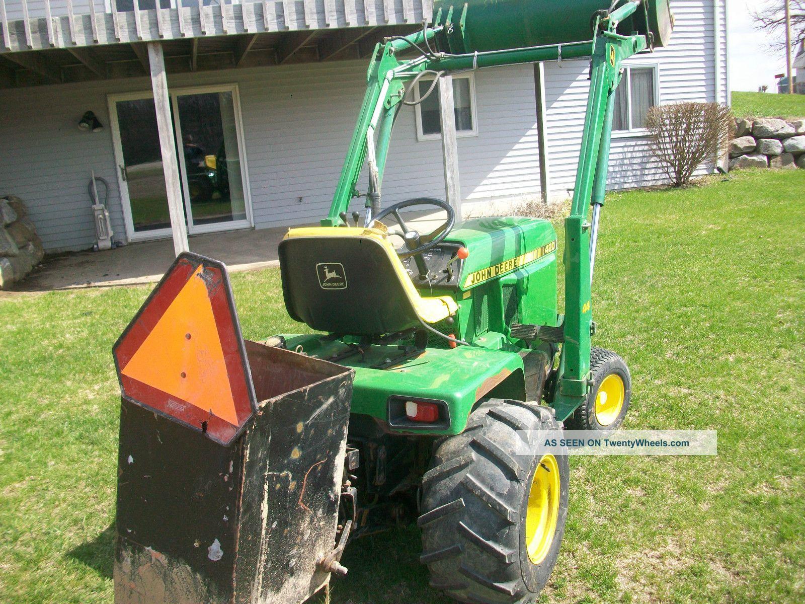 3 Point Hitch Garden Tractor : John deere garden tractor point hitch jd