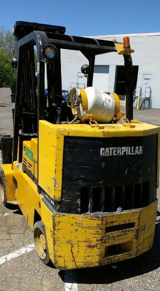 Caterpillar T120d Cat 12,  000 Lb Lpg Forklift photo