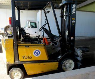 1998 Yale Forklift 5000 Lb Forklift Fork Truck 7479 Hrs / Lpg Propane photo