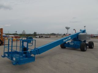 Genie S80 Aerial Manlift Boom Lift Man Boomlift Fresh Paint & Service Inspected photo