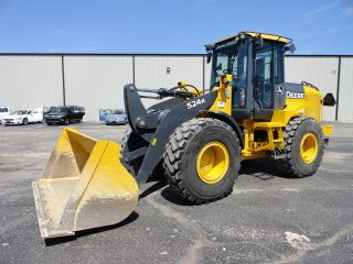2011 John Deere 524 K Wheel Loader Runs And Drives Great 119 Hours photo