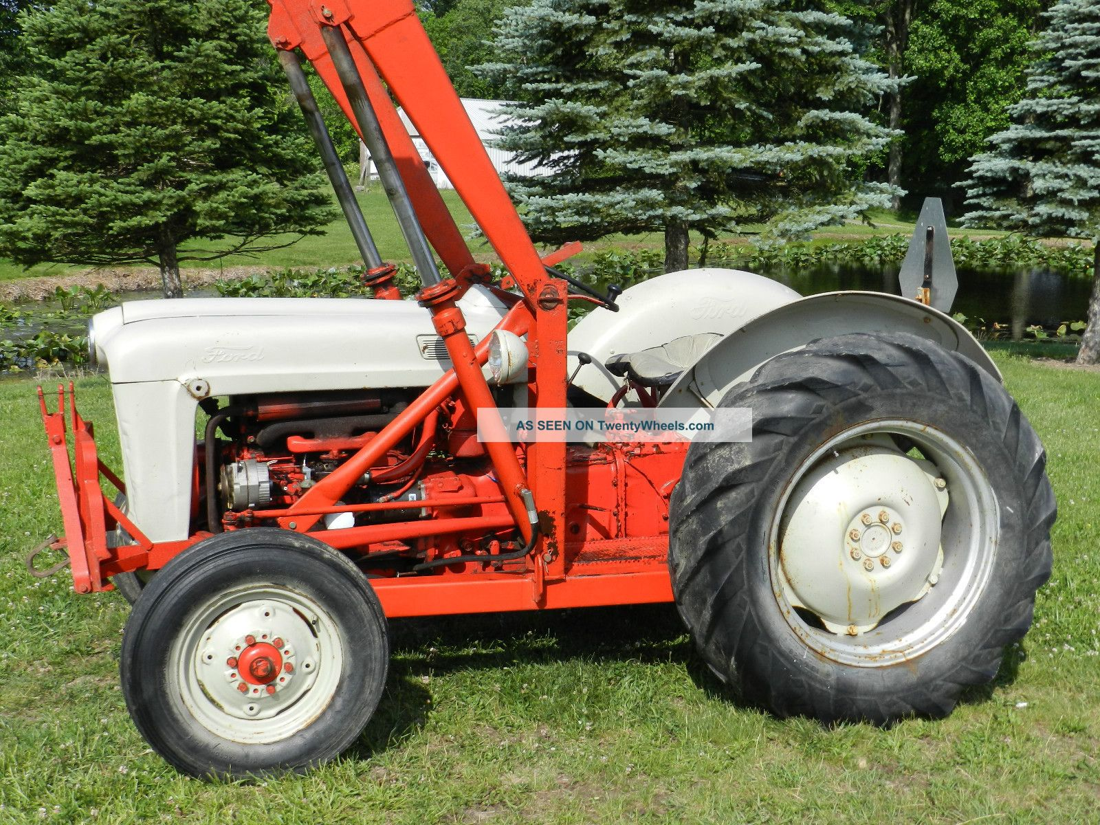 Vintage Tractor Front Loader : Ford tractor front hydraulic loader