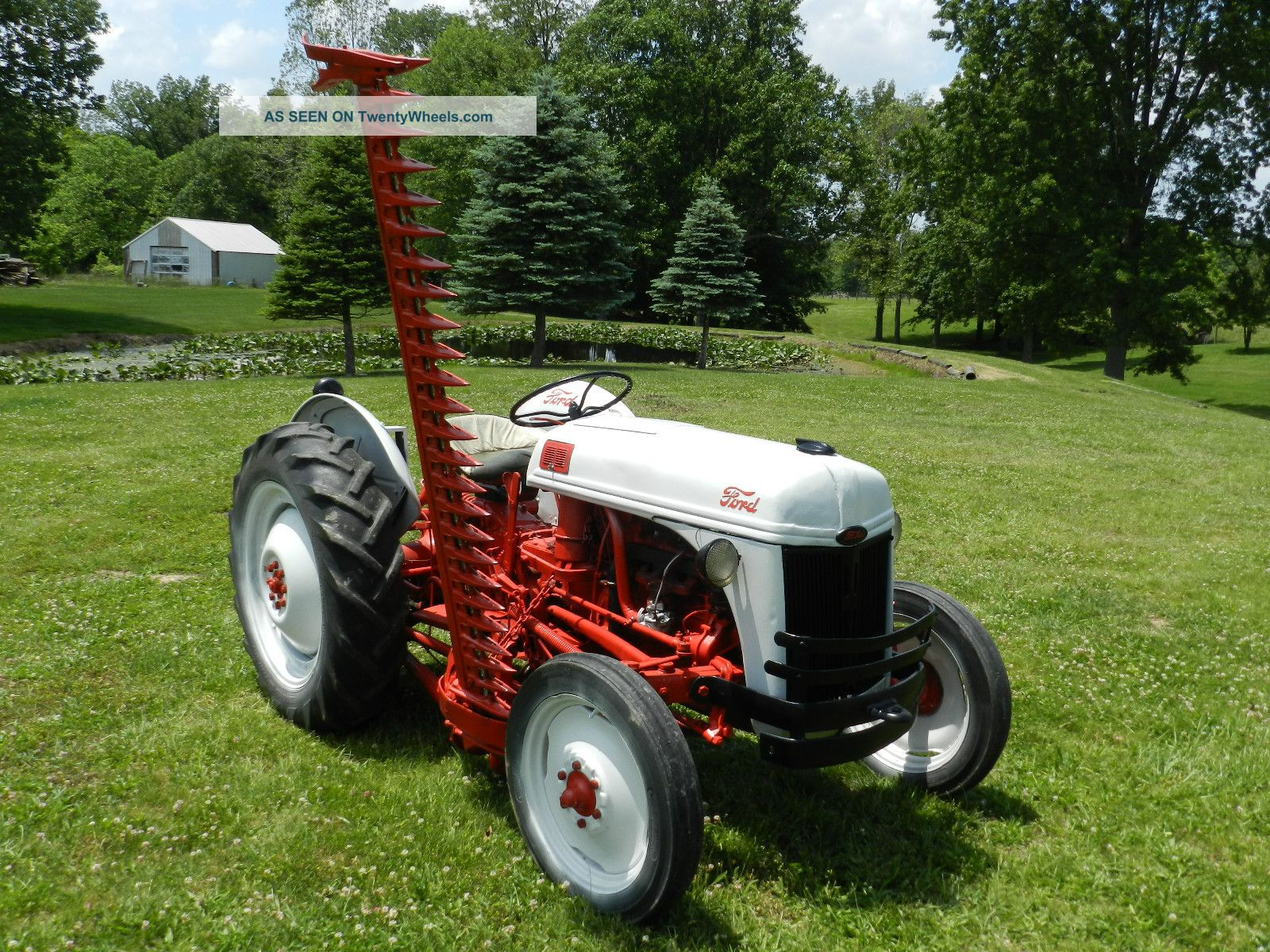 1952 Ford 8n Tractor & 6 Foot Side Sickle Bar Mower