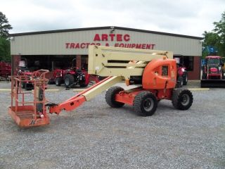 2002 Jlg 450a Articulating Boom Lift - 45 ' Manlift - 4x4 - Dual Fuel - Genie photo