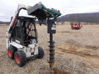 Cid Xtreme Skid Steer Auger Post Hole Digger For Bobcat Mt50 Mt52 Mt55 463 S70 photo