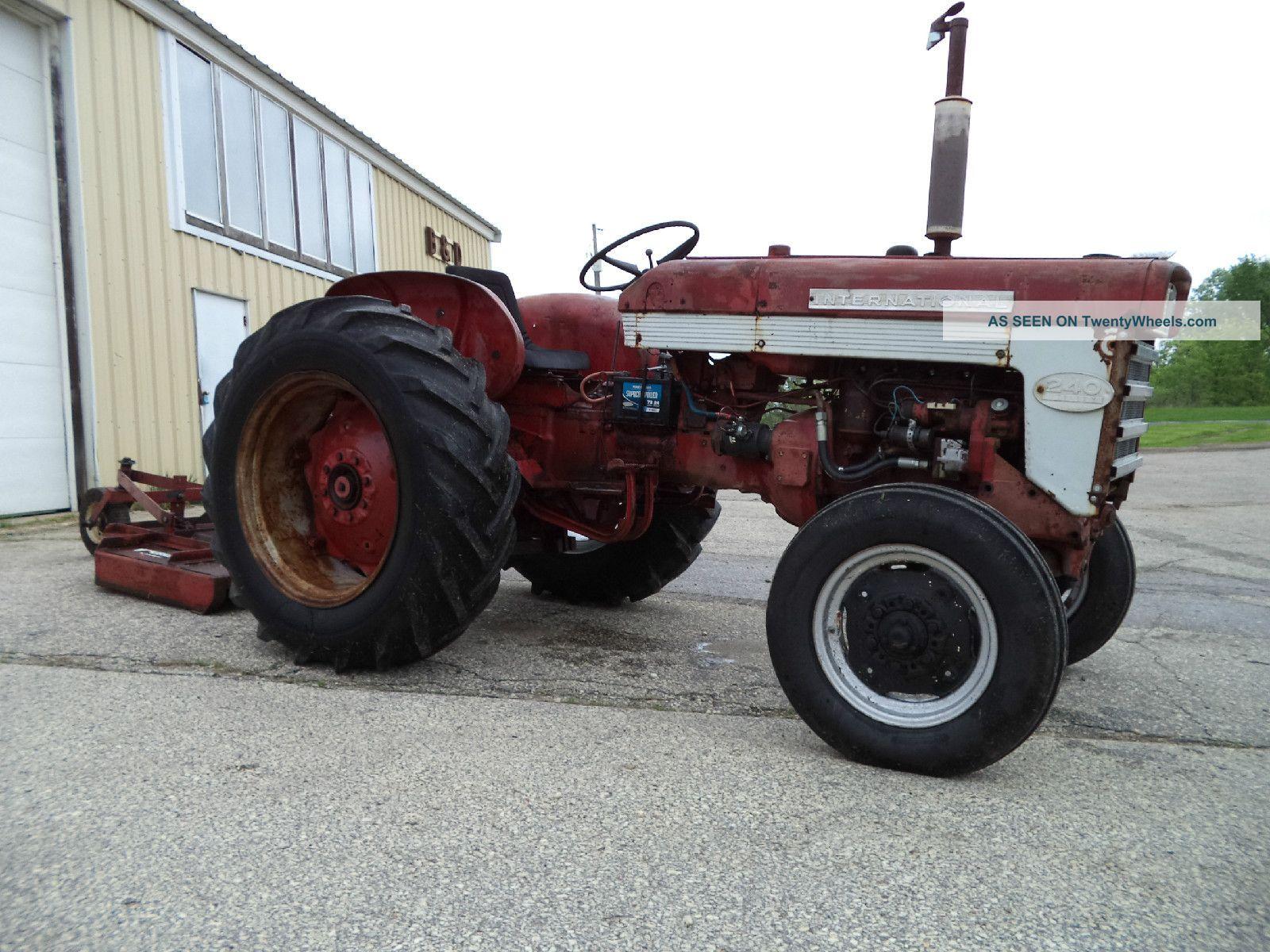 International 240 Tractor : Ih farmall utility tractor w brush hog