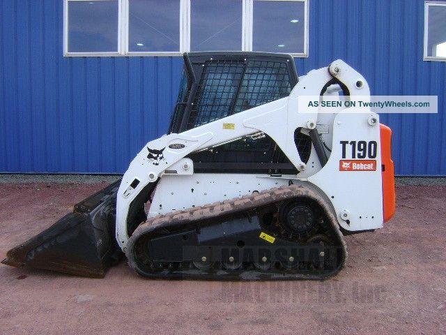 Bobcat T190 Specs >> 2012 Bobcat T190 Skid Steer Track Loader Cab Heat Air Factory
