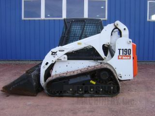 2012 Bobcat T190 Skid Steer Track Loader Cab Heat Air Factory photo