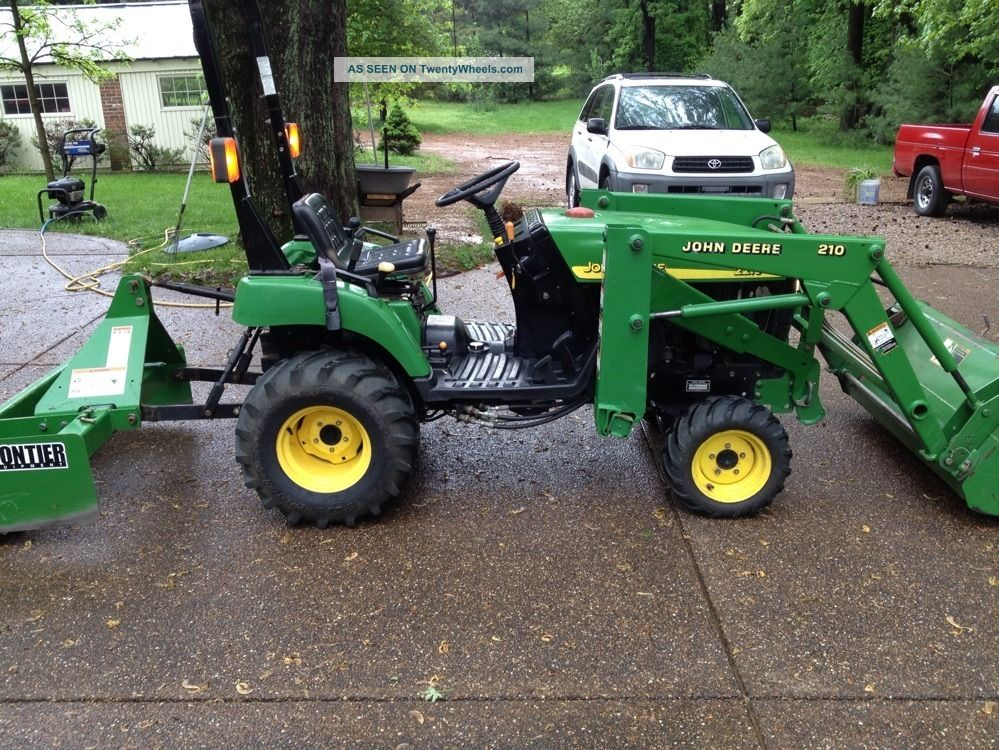 John Deere 2210, 4 X 4, Tractor, With Bucket And Box Blade, Only 604