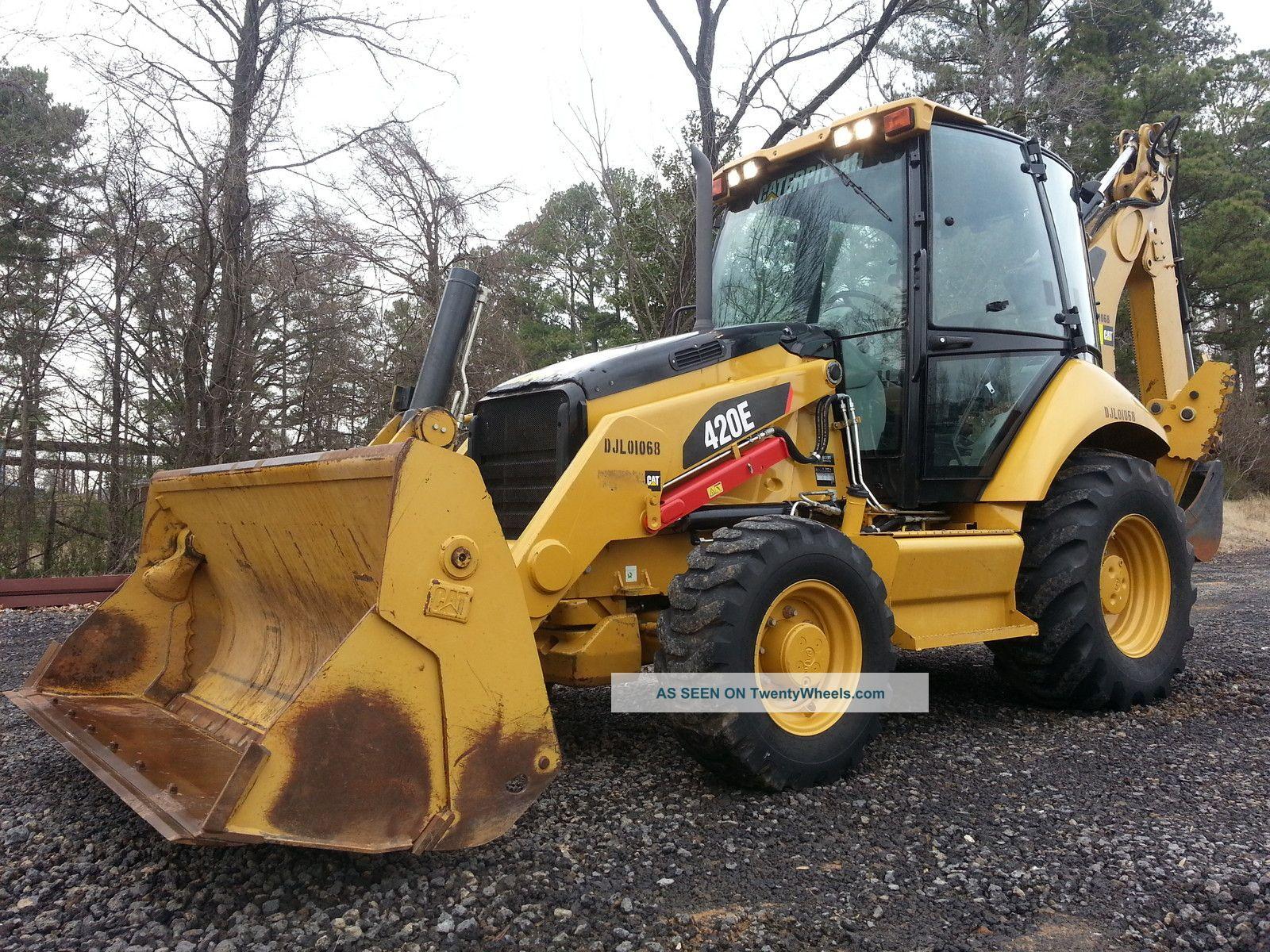 2011 Cat Caterpillar 420e Loader Backhoe