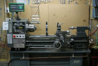 Enco 12x36 Metalworking Engine Lathe With Dro Plus Addl Accessories photo
