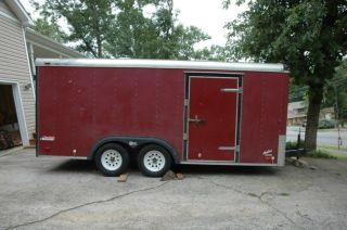 Pace American 16 ' Enclosed Utility Trailer,  1997 Model. photo