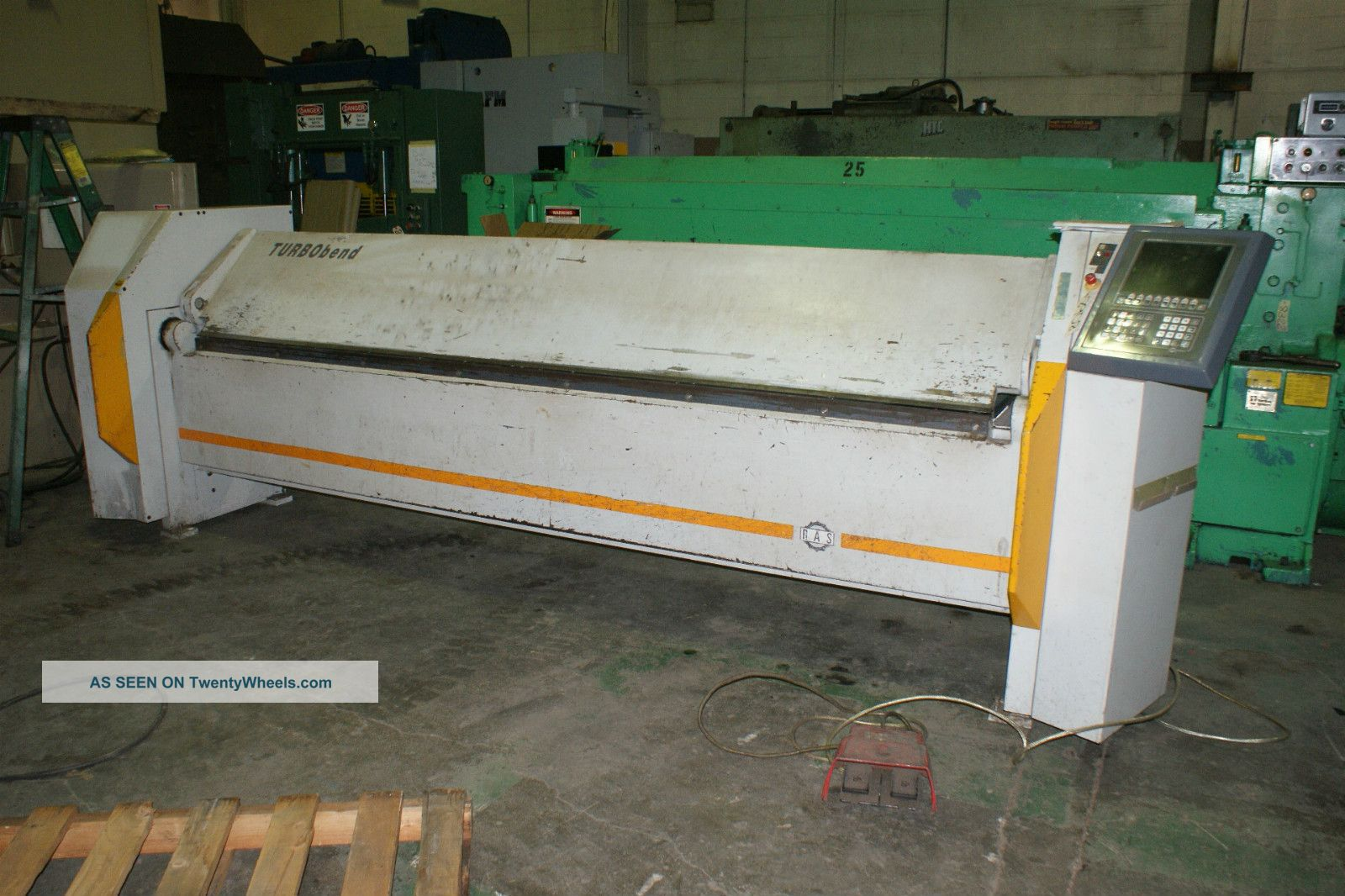 Ras 2003 Turbobend 10 ' X 16ga.  Model 61.  31 Cnc Power Sheet Metal Folder Metal Bending Machines photo