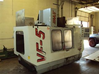 1999 Haas Vf5 50 Taper Cnc Vertical Machining Center Gear Box Thru Spindle Cool photo