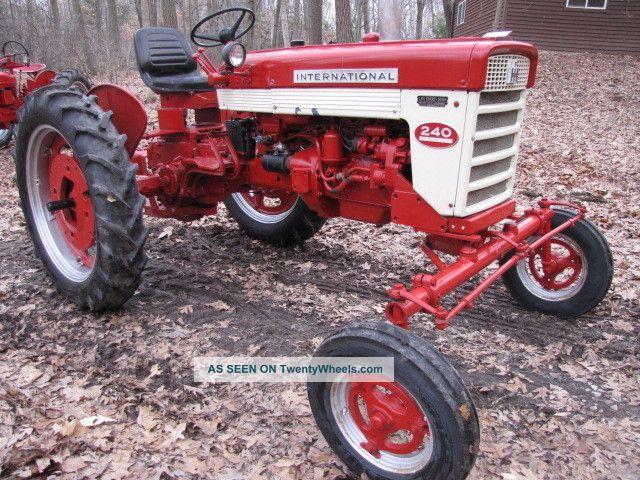 1958 International Tractor : Farmall international tractor
