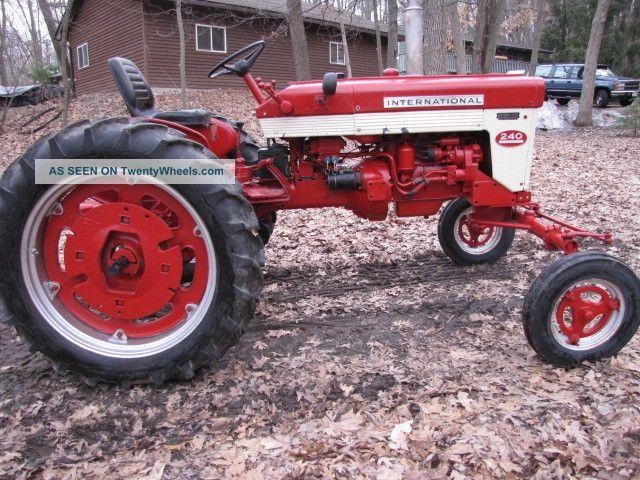 International 240 Tractor : Farmall international tractor