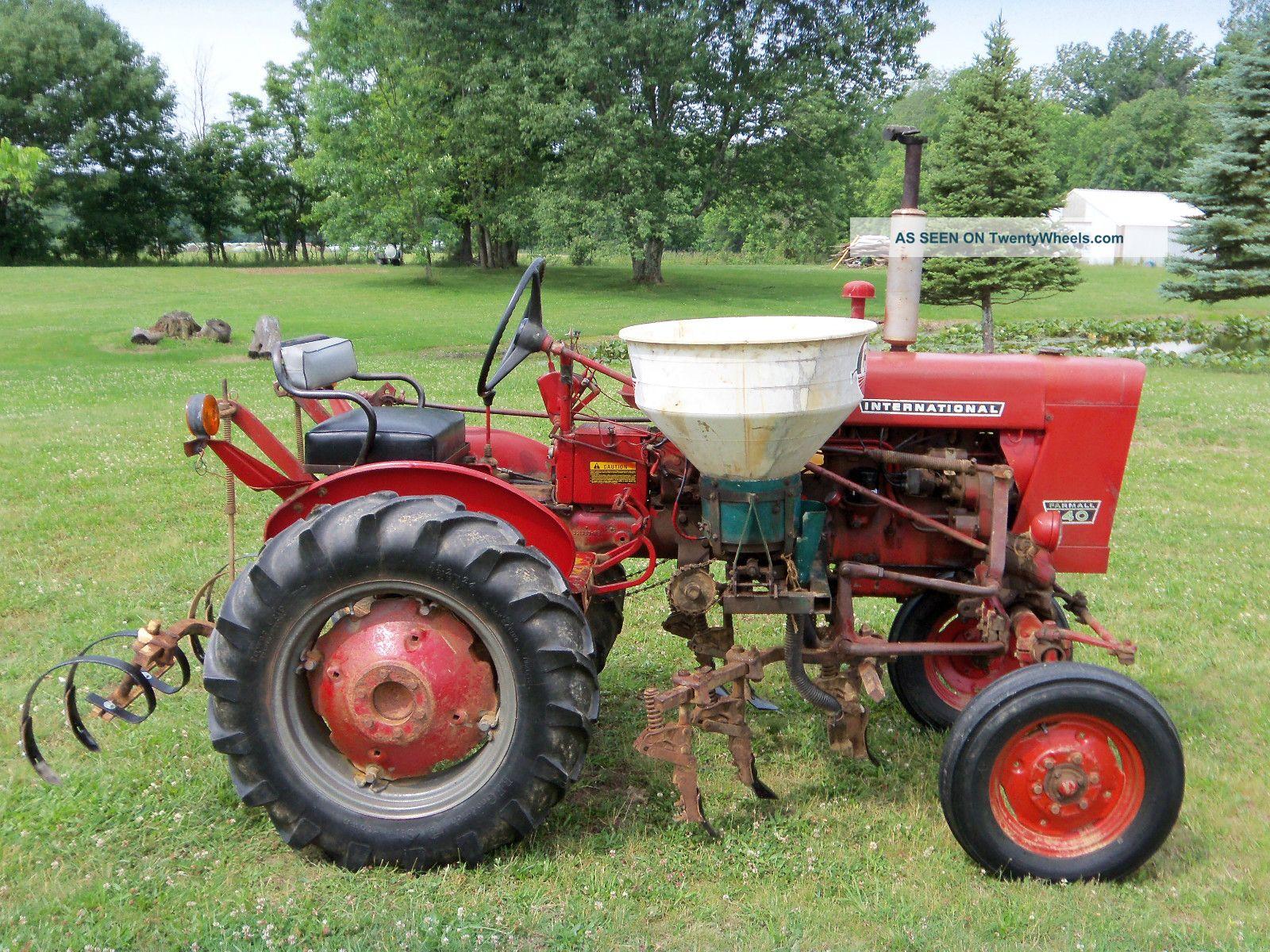 International Farmall Cultivators Side Dresser Sprayer Lgw