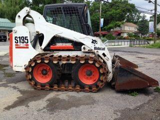 Bobcat S185 Skid Loader Heat With Steel Tracks Bucket Heated Cab photo