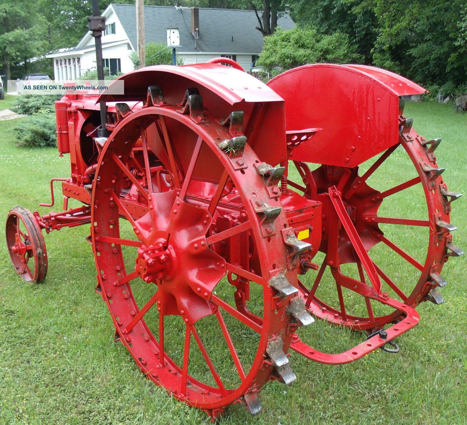Farmall Steel Wheels : Farmall f wide front full steel vintage tractor