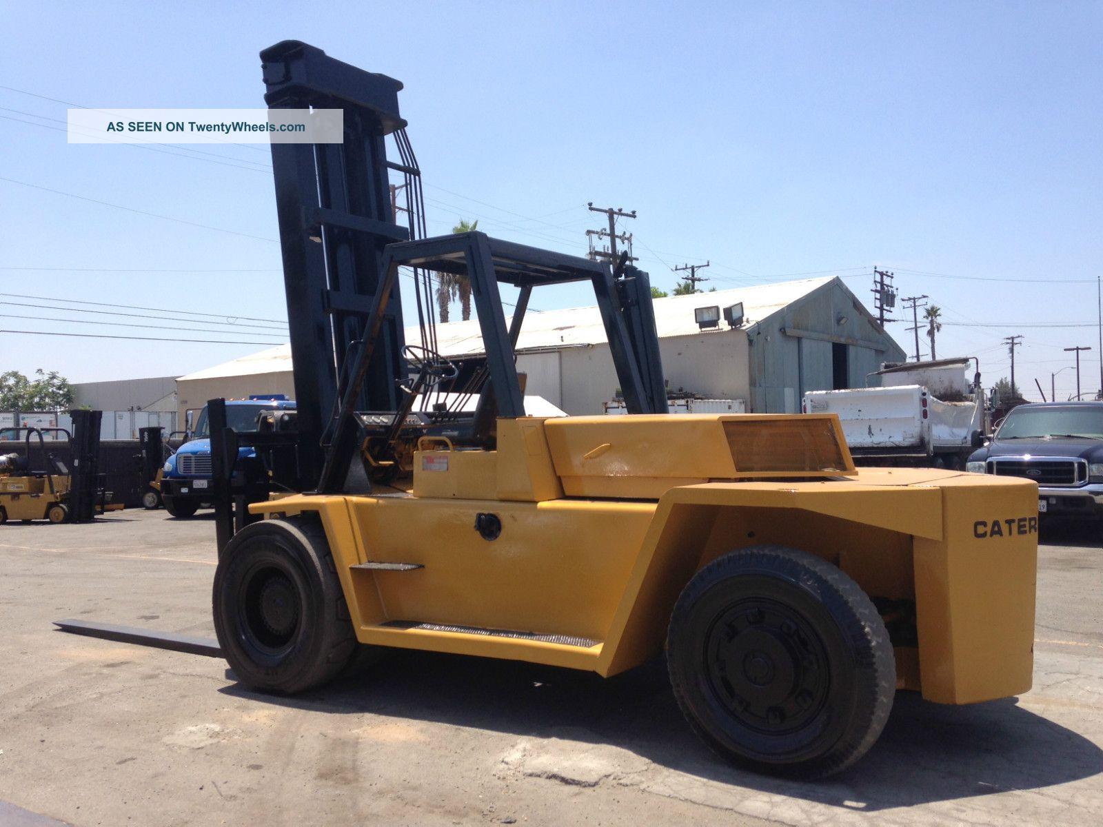 Four Way Side Loader Forklift Mitsubishi Rbm2025k Series: Caterpillar Forklift 25000 Lbs Capacity Model V250b Diesel