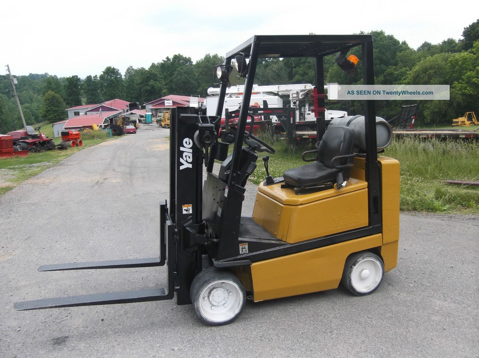Height 2001 yale 4 000 lbs forklift lift truck lpg 83 quot lift height