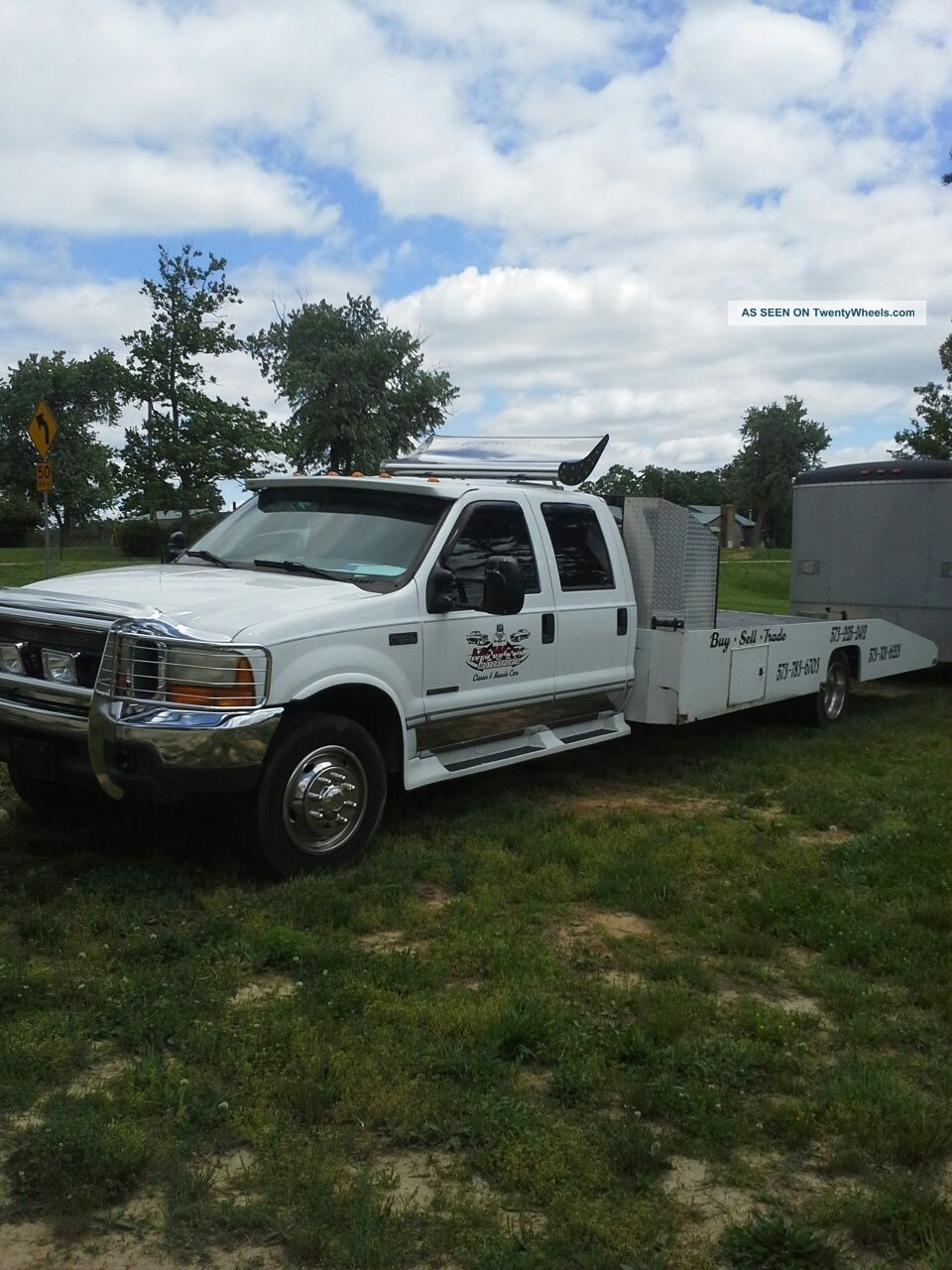 2000 2000 Ford F550 7 3 Diesel Wedge Bed Car Hauler 2000 Ford F550