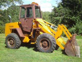 Case W14 Articulated Wheel Loader Enclosed Cab 2yd Gp Bucket Bolt On Edge photo