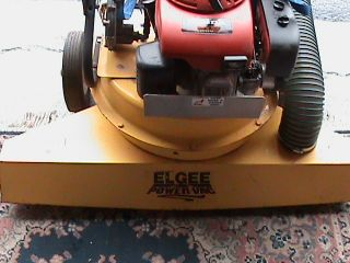 Elgee Power Vac Vacuum Propane Debris Sweeper 5.  5 Honda Engine Only 18 Hours photo