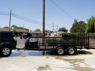 One Owner 2007 Cen Tex Trailer 16 ' Bed With Brakes,  Tandem Axels,  Grvw 7,  000 Lbs photo