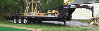 2007 Sure - Trac 30 ' Deck Over Gooseneck Equipment Trailer photo
