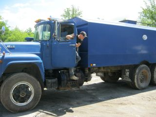 Blue Mack Water Truck photo