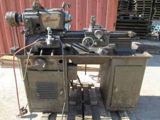 Logan 13 In.  Lathe 2535 Screw Cutting And Turret Air Pneumatic 10