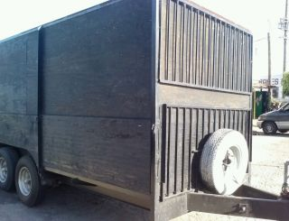 Trailer 20 ' Commercial Grade,  Ramp Gate,  Heavy Duty,  Current Tags,  Tires. photo
