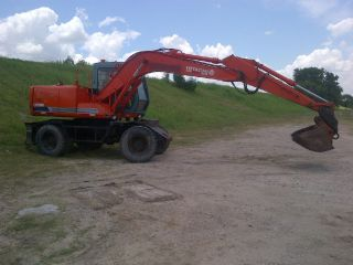 1998 Hitachi Ex100wd - 3 - With Hammer And Concrete+clean Up Bucket photo