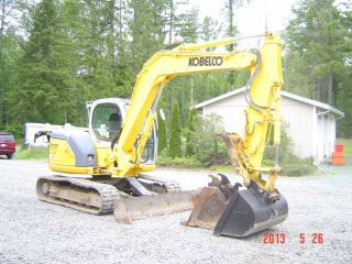 2007 Kobelco 80cs Excavator Hyd Thumb 2 Bkts Q/c photo