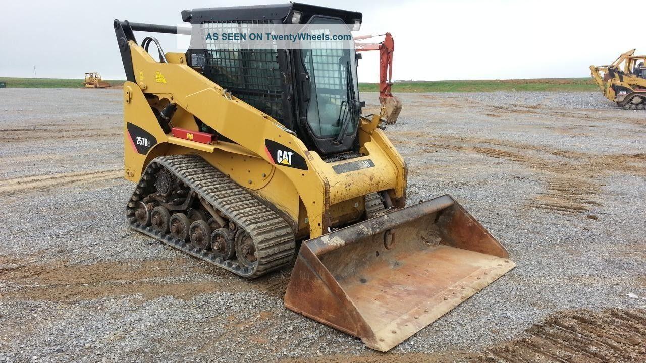 Track Skid Steer Loader : Cat caterpillar b track skid steer loader cab