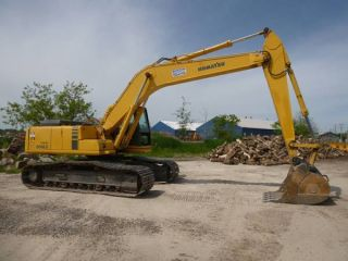 1998 Pc 200lc - 6 Komatsu Excavator With Quick Connect Bucket photo