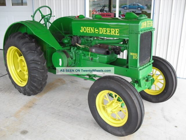 John Deere Bo Orchard Tractor Antique & Vintage Farm Equip photo