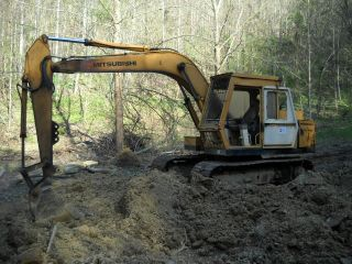 1986 Mitsubishi Excavator Ms120 - 8 E120 Runs And Operates photo