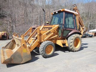 1990 Case 580k Backhoe Loader W/ Extend - A - Hoe photo