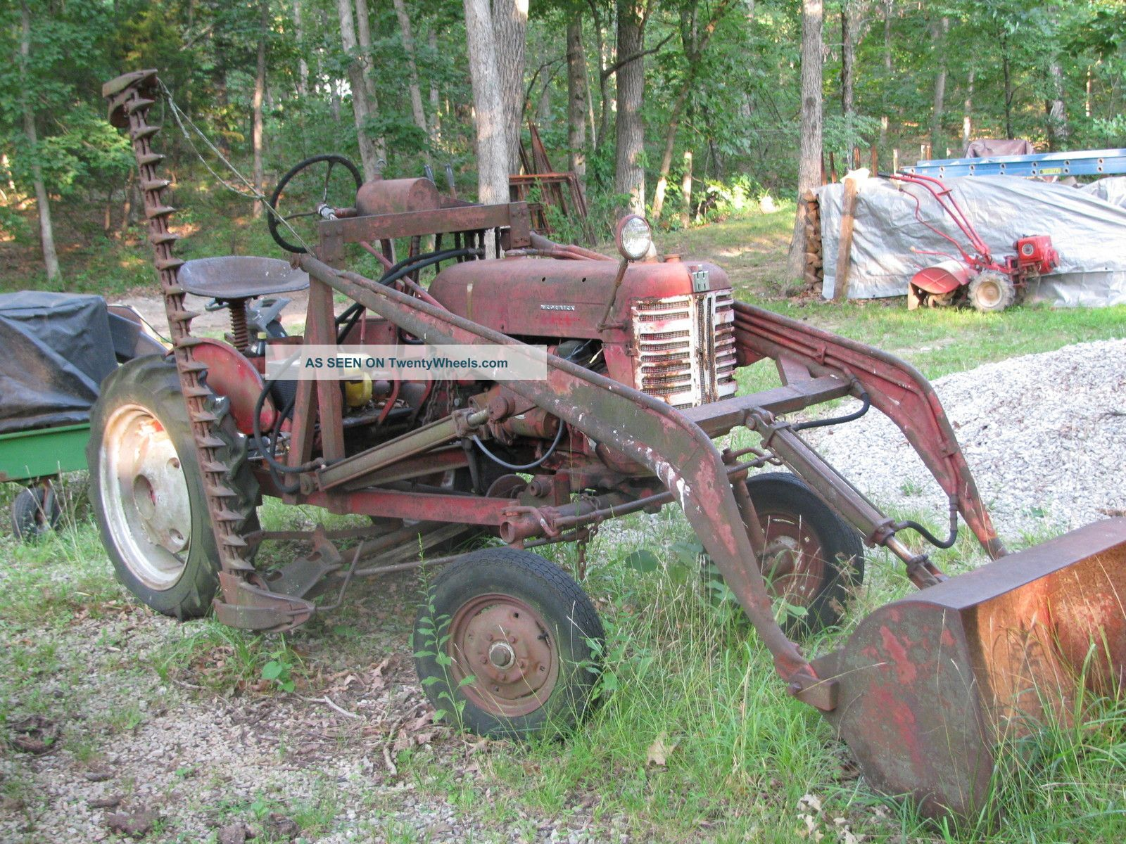 Vintage Tractor Front Loader : Mccormick farmall cub tractor w hydrolic front end