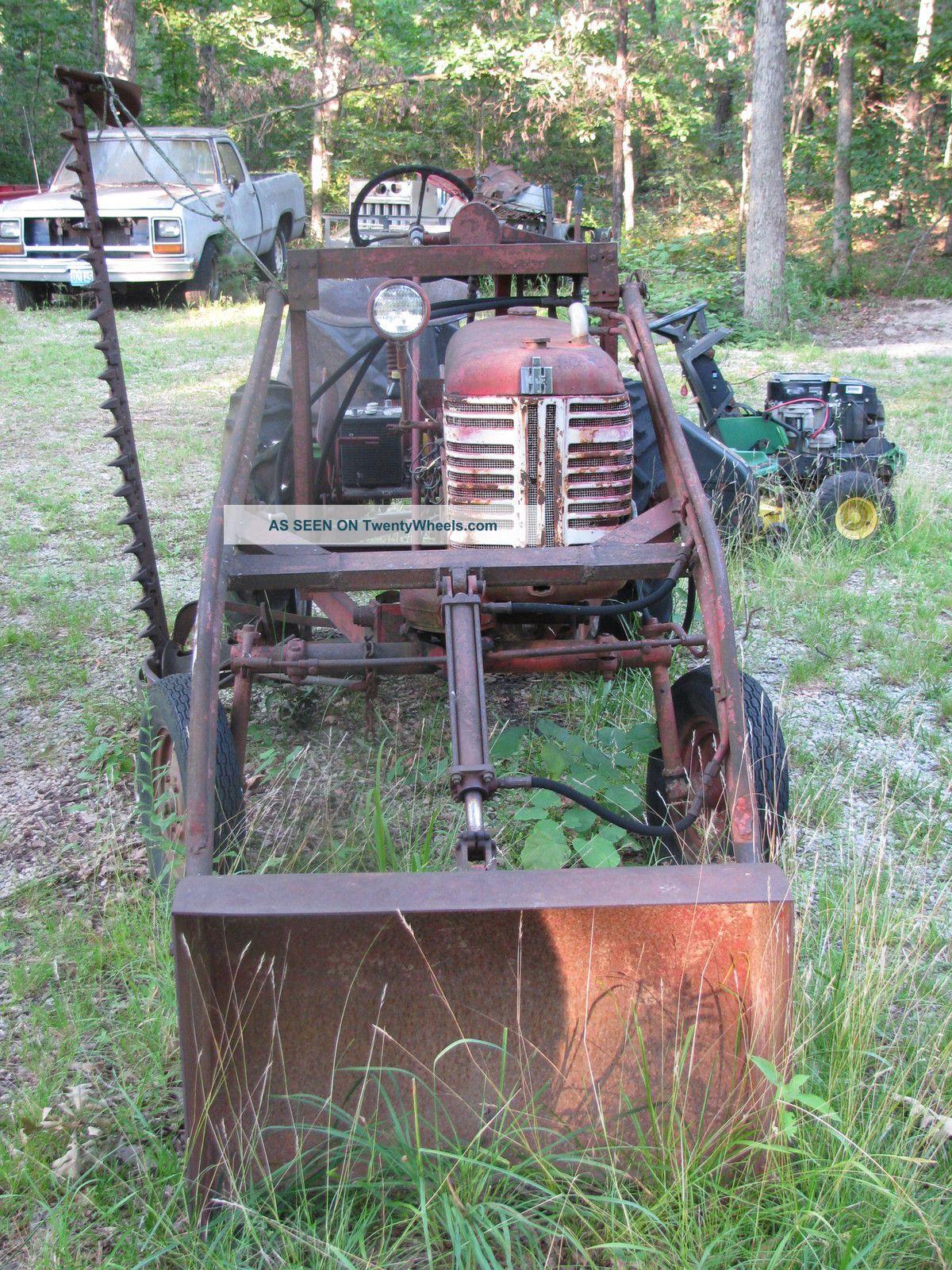 Mccormick Farmall Cub Tractor W Hydrolic Front End Loader And Sickle Mower Lgw