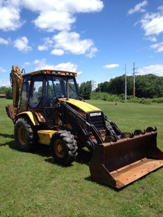 1999 Caterpillar 416c It 4x4 Loader Backhoe Cab Extendahoe photo
