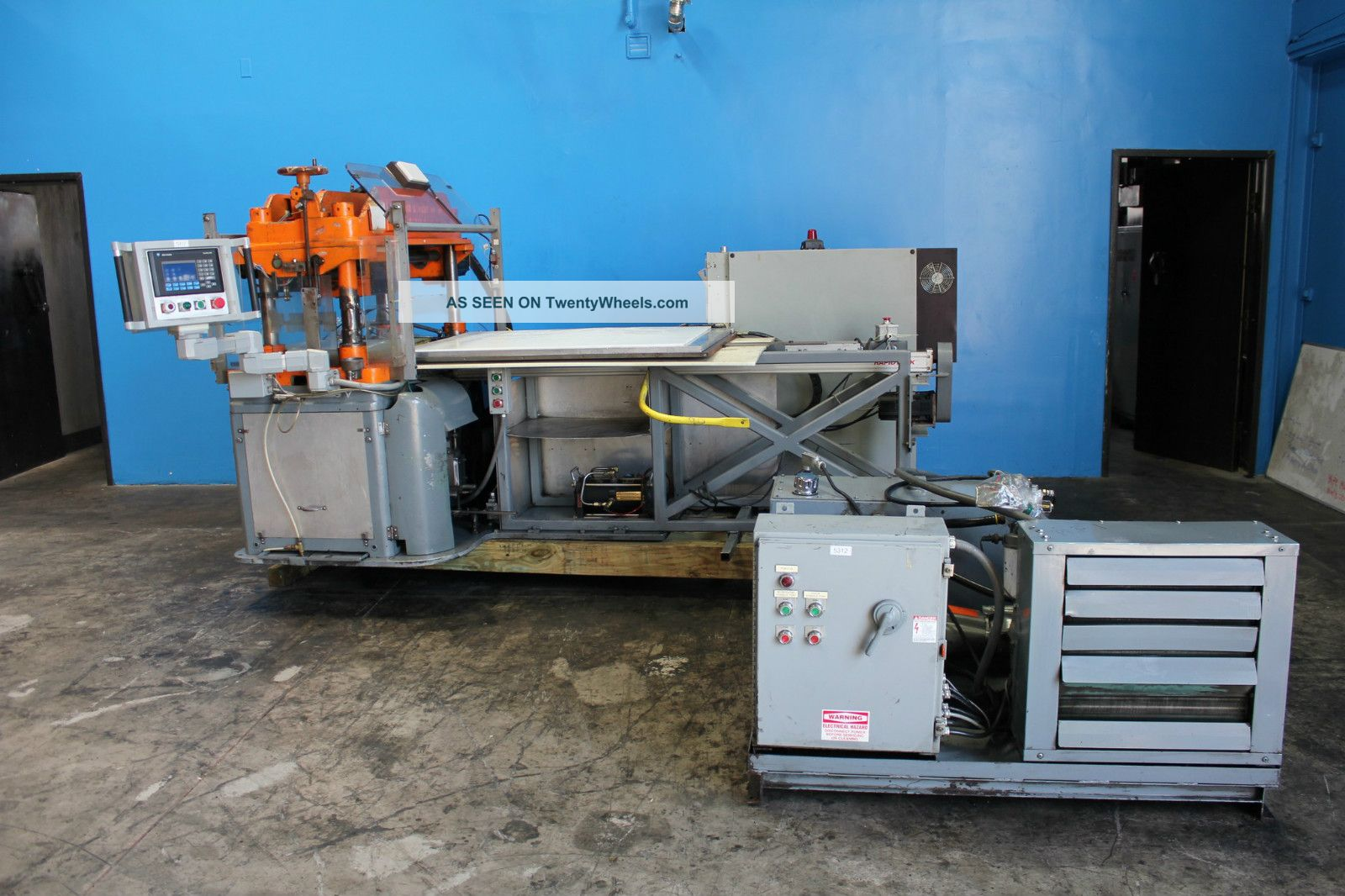 25 Ton F  L  Smithe Model Php - 700 Clicker Die Press, S/n 141