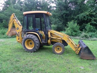 2005 John Deere 110 Loader 4x4 Tractor Backhoe Full Cab Diesel photo