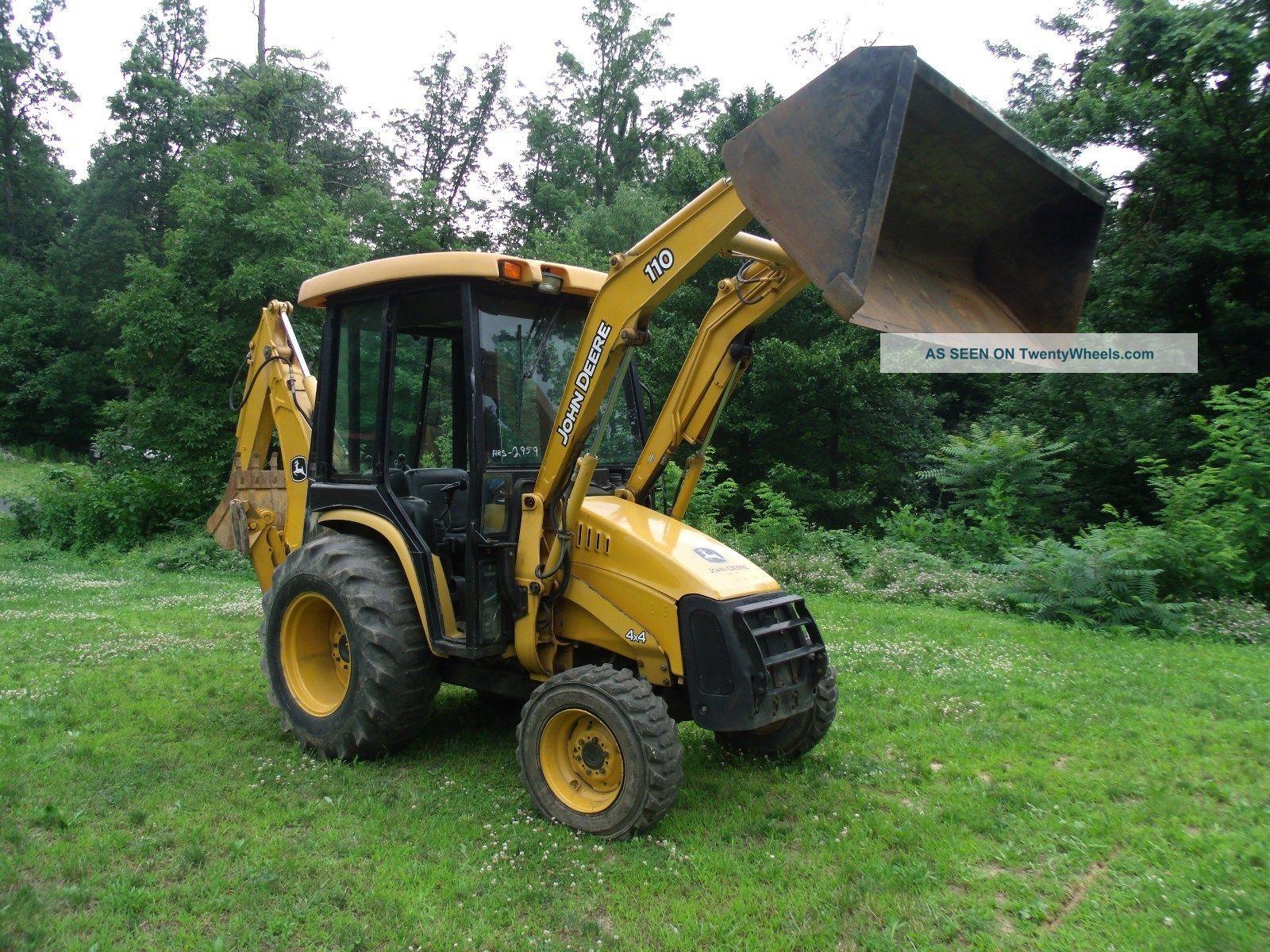 Tractor Loader Backhoe : John deere loader tractor backhoe full cab diesel