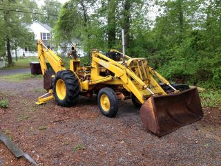 1963 Case Tractor Backhoe photo